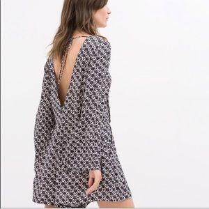 Zara romper open back lightweight grey white